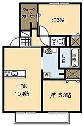 メゾンクレール広瀬A棟[2階]の間取り