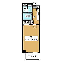 エターナル高辻[3階]の間取り