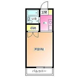 ハイツアミ[1階]の間取り