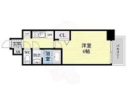 JR片町線(学研都市線) 鴫野駅 徒歩1分の賃貸マンション 12階1Kの間取り
