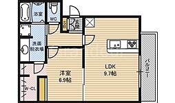 サニーガーデン鶴見[2階]の間取り