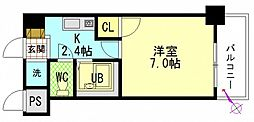広島県広島市東区牛田新町4丁目の賃貸マンションの間取り