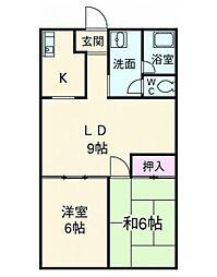 メゾン山崎壱番館[4階]の間取り