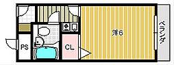 メゾン春日[1階]の間取り