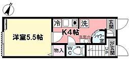 アイコート上井草[102号室]の間取り