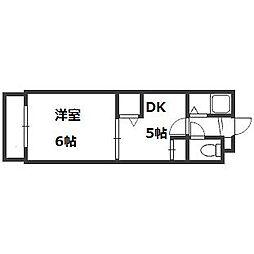 サポナール円山[505号室]の間取り