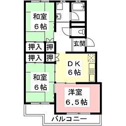 岐阜県住宅供給公社 メゾン東大垣[C202号室]の間取り