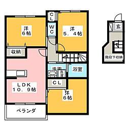サンライトMKII[2階]の間取り
