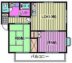 ハイム武蔵野[1階]の間取り