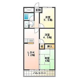 豊ハイツ[306号室]の間取り