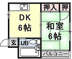 田中市コーポ[302号室号室]の間取り