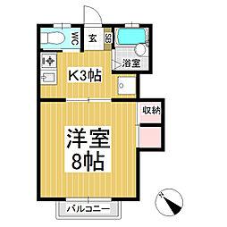 コーポマツミ B棟[2階]の間取り