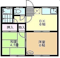 六崎ハイツ[1階]の間取り