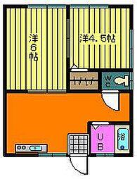 松尾アパート[2階]の間取り