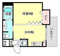 ファーストアベニール[3階]の間取り