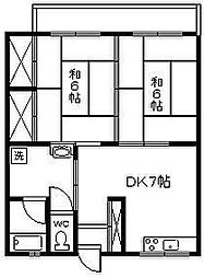 コーポタカラ[302号室]の間取り