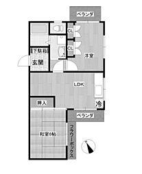 ベルゾーネ新ゆり[3階]の間取り