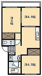 栄アパート[203号室]の間取り