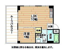 福岡県北九州市戸畑区千防3丁目の賃貸マンションの間取り