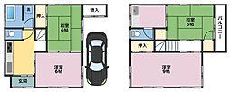 [一戸建] 神奈川県横浜市鶴見区岸谷4丁目 の賃貸【/】の間取り