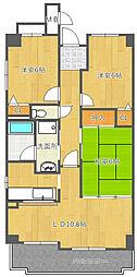 和マンション[3階]の間取り