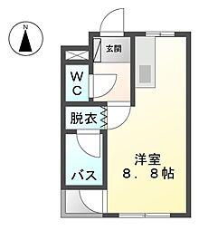 愛知県稲沢市治郎丸西町の賃貸アパートの間取り