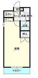 キャッスルマンション[5階]の間取り