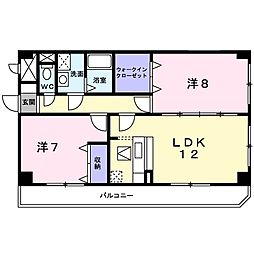 Osaka Metro長堀鶴見緑地線 門真南駅 徒歩10分の賃貸マンション 1階2LDKの間取り