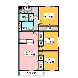 八雲マンション C棟[1階]の間取り