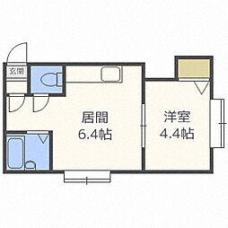 フラット・J麻生B棟[1階]の間取り