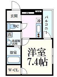 阪神本線 大石駅 徒歩5分の賃貸アパート 3階1Kの間取り