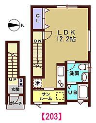 (仮称)諸江KAP[203号室号室]の間取り