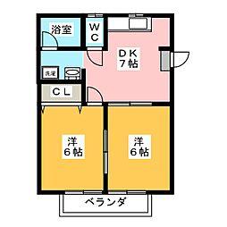 ベルビュー5[2階]の間取り