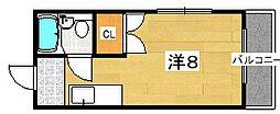 シルクハイツ[3階]の間取り