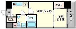 セレニテ福島シェルト[13階]の間取り