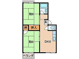 プレジール高松[2階]の間取り
