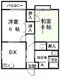 兵庫県豊岡市出石町町分の賃貸アパートの間取り