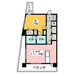 Varie東別院[12階]の間取り