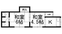 鈴木文化[22号室]の間取り