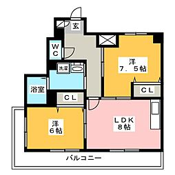 グラシャス97[9階]の間取り