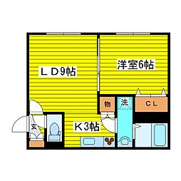 札幌市営東豊線 北13条東駅 徒歩4分の賃貸マンション 1階1LDKの間取り