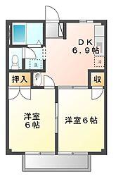 カーサすみれ[2階]の間取り