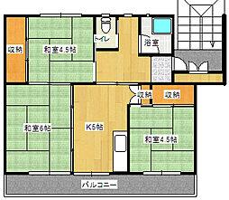 岡山県備前市東片上の賃貸マンションの間取り