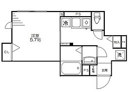 東京都江東区白河3丁目の賃貸マンションの間取り