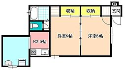 熊谷南コーポ[1階]の間取り