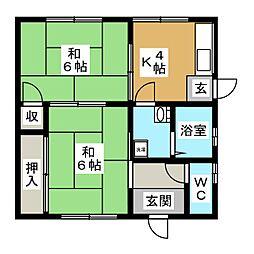 [一戸建] 岐阜県美濃加茂市本郷町7丁目 の賃貸【/】の間取り