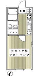 二俣川駅徒歩8分 ラフィネ二俣川105号室[105号室]の間取り