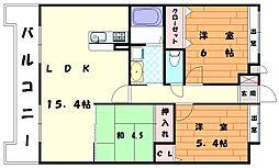 エレガンテオーラ[5階]の間取り