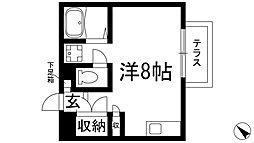 兵庫県西宮市上ケ原三番町の賃貸アパートの間取り