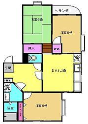 シャルマンコーポ福田[3階]の間取り